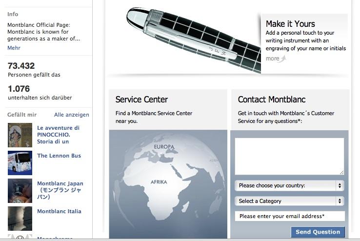 Unternehmenskommunikation mit Facebook, Mont Blanc