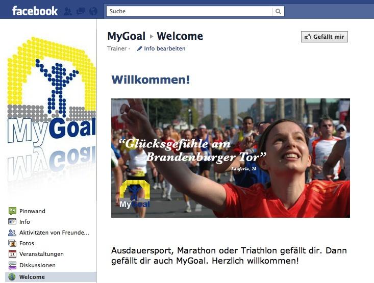 Fallbeispiel Unternehmenskommunikation mit Facebook, MyGoal Training