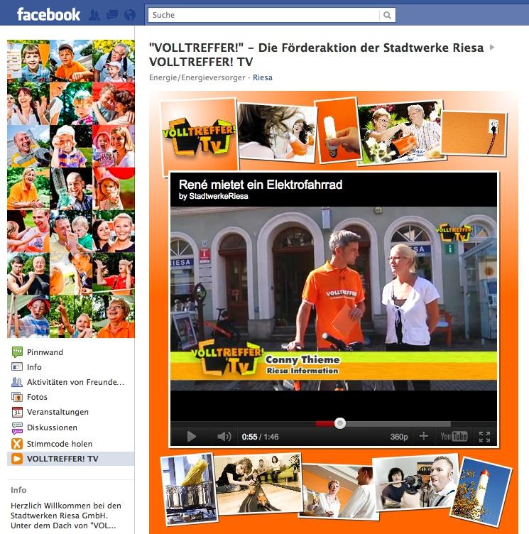 Fallbeispiel Facebook, Stadtwerke Riesa