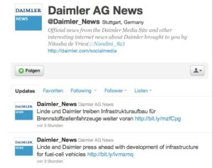 Fallbeispiel Social Media, Twitter Daimler Benz
