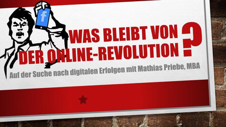 Vortrag Was bleibt von der Online Revolution